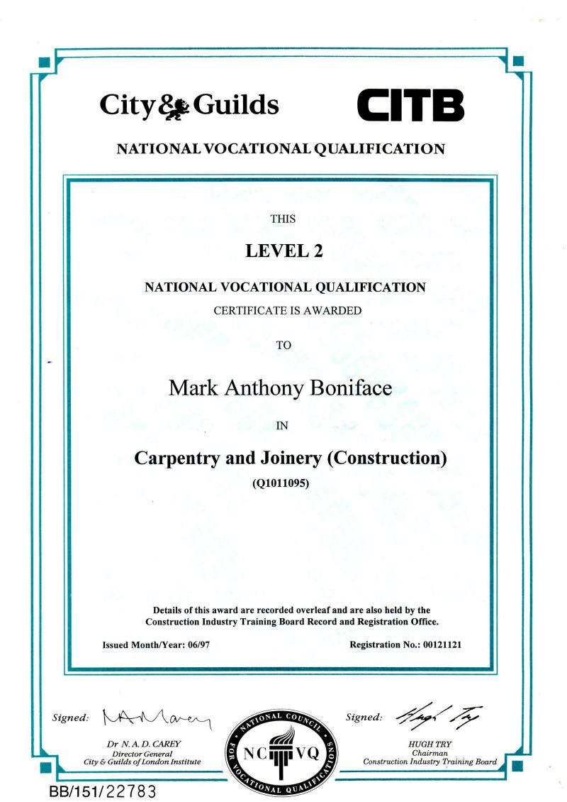 NVQ Level 2 Carpentry