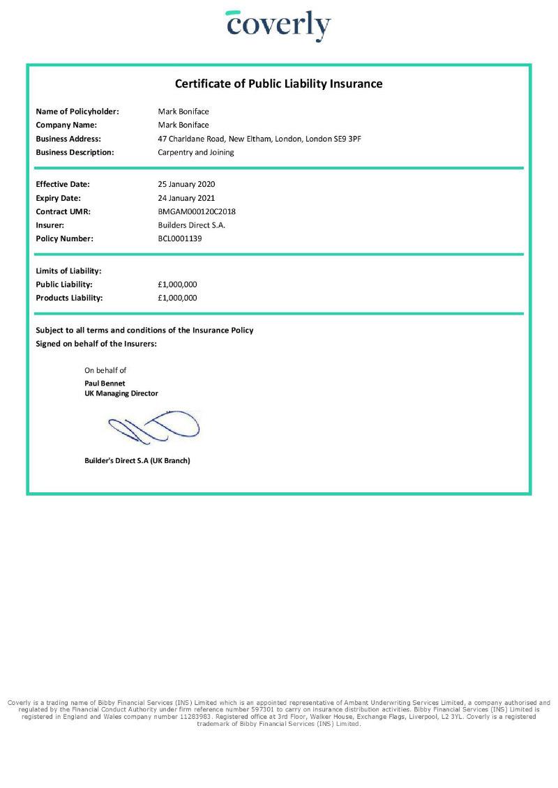 A1Class Public Liability Insurance
